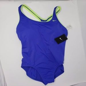 Blue and Yellow one piece Nike Bathing Suit